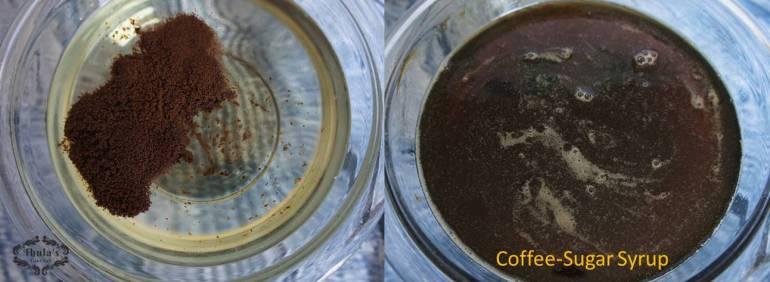 coffee-sugar syrup