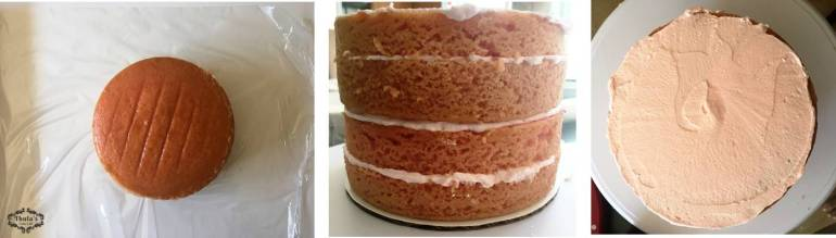 pink-vanilla-cake-filling-and-stacking