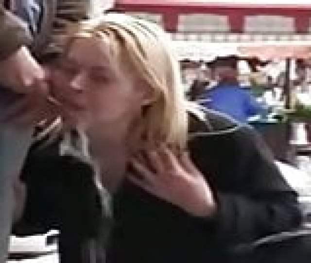 Blonde Teen Girl Public Blowjob