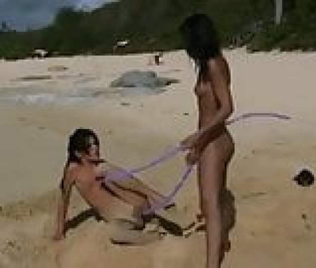 Naked Teens Fool Around On Public Beach Just Drew