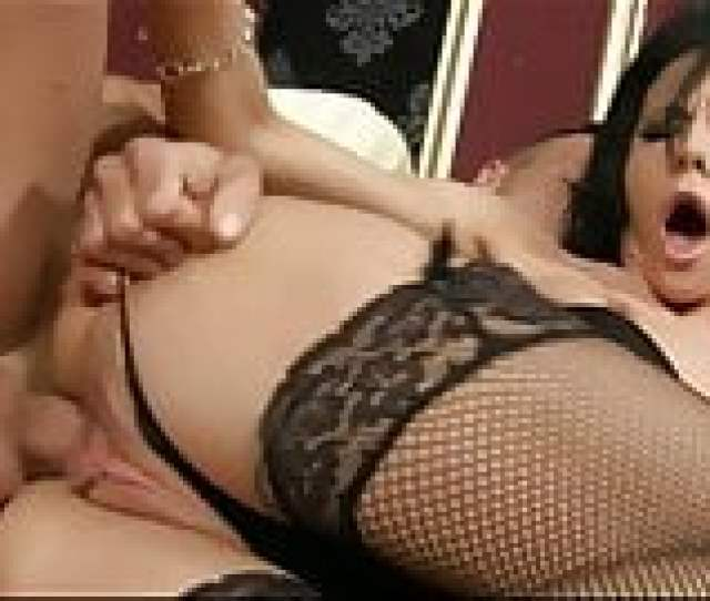 Perky Brunette Milf In Fishnet Stockings Gets Anal Creampie