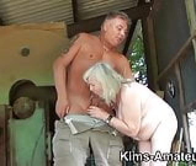 Year Old Granny Gives A Blowjob And Gets Fucked