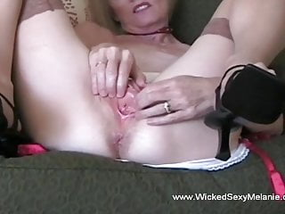 Cock licking And Cum For Granny's Face