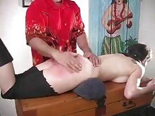 Mischievous bitch spanking