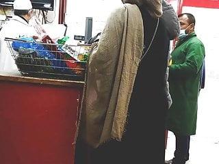 UK candid hot hijabi bengali milf with a Donky ASS teasing