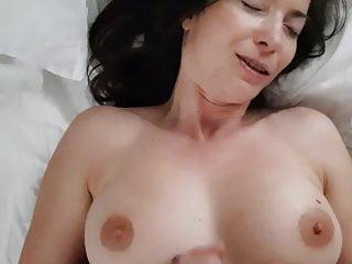 Cum over my titties