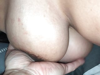 Playing with pregnant girlfriends big tits and hot pussy