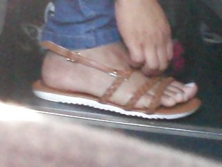Candid toes eradicating and placing sandal virtually found P2