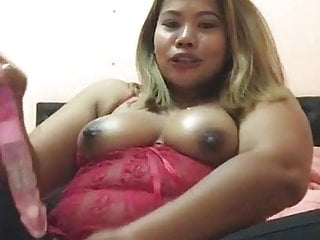 Full grown Ass Blonde Asian Milf Performs With Solid Slit