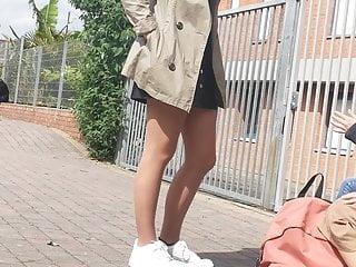 Hot legs in tan pantyhose 02