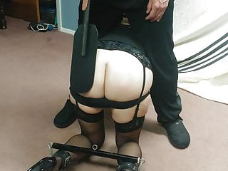 Wife's weekly spanking!