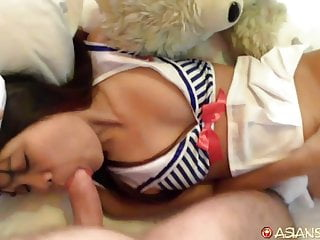 Asian Sex Diary – Asian slut in sexy sailor costume fucked
