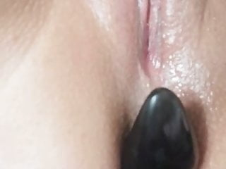 Glistening Vagina with ass toy