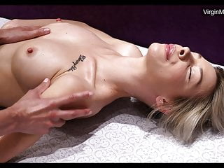 Masha being 1st time massaged