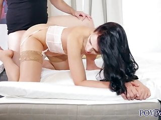 Leanne Lace Laborious bang in Silk Stockings