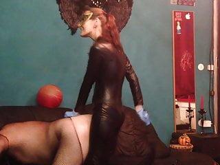 Sexy Femdom Mistress Fucks Sissy Slave With Strapon