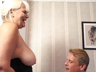 Old busty milf fucked by fortunate daddy