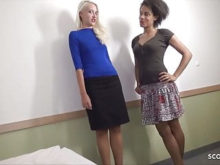 Consumer Fuck Two Petite Latina and Blonde Road Hooker FFM