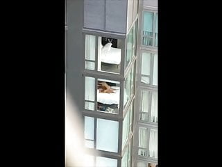 couple caught fucking in lodge – window spy – voyeur intercourse