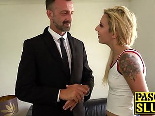 Submissive match girl from UK brutally dominated by dude