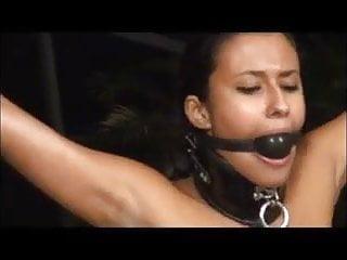 Eboby Bondage Slut in Leather-based compelled Orgasm