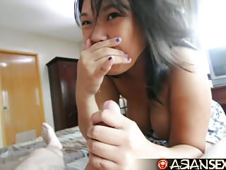 Asian Sex Diary – Filipina MILF sucks and fucks white guy