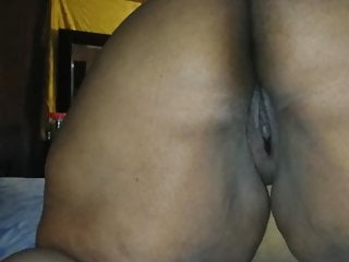 Ebony BBW Teasing her ass and pussy