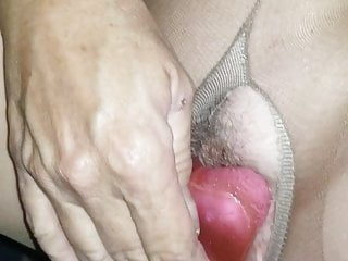 Old in Pantyhose Fuck toy Herself