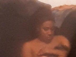 Window spy on piping hot ebony girl