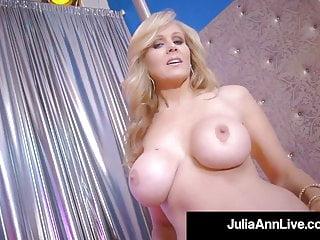 Stripper Sexy milf!? Milf Julia Ann Finger Bangs After Stripping!
