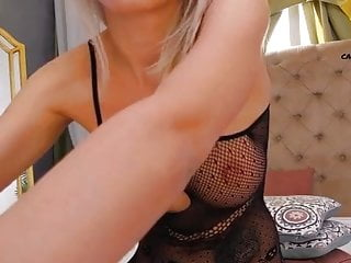 Blonde Beautiful girl with ass sex toy on webcam
