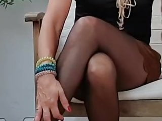 Spanian pantyhosed milf on TV