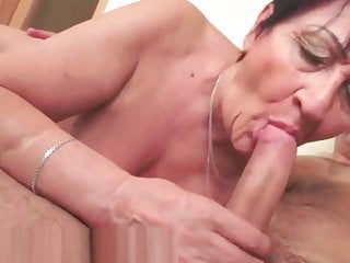Bigass granny bounces on shaft and acquires creampied