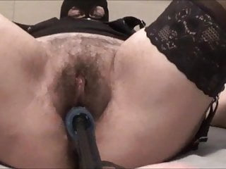 demetra with the masks…two dildos within the ass