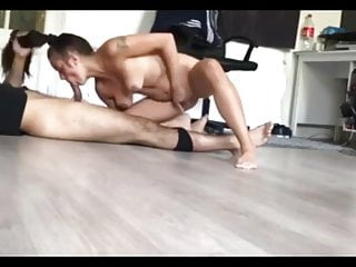 brother fucks my horny girlfriend from behind