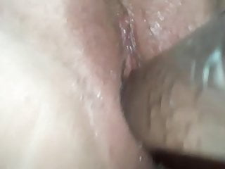 GF Christine smashes herself with a fuck toy