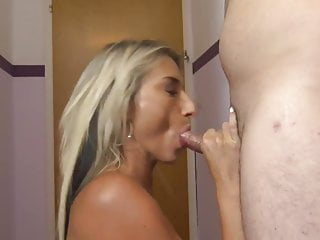 Blonde Milf and Younger Neighbour Boy
