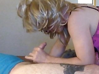 Trans Girl Gives a Blowjob then plays pt.1