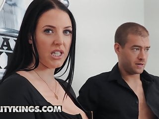 Great tit Angelina White loves a great penis inside her