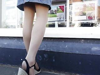 Upskirt on the retailers 14