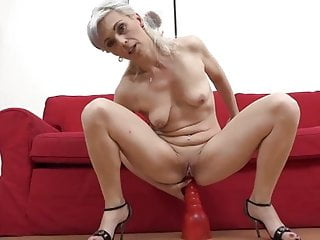 Kathy White will get an assful of cum from a big black cock