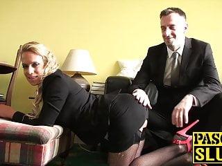Depraved UK bitch secures her face slapped whereas she smashes arduous
