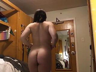 Voyeur cam in Chrissy's dorm room