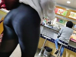 Immense ass dark skinned booty erotic butt candid legging