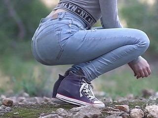 European young teen view ass in public