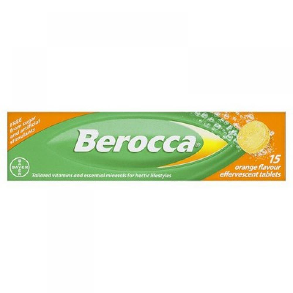 Berocca 15 Orange Flavour Effervescent Tablets Damaged Box | Approved Food