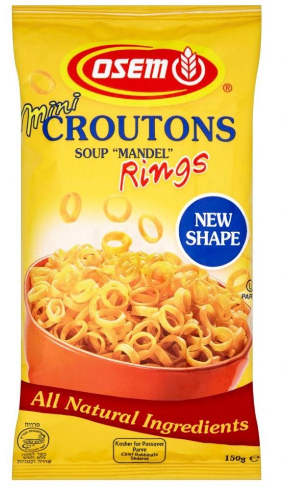 Osem Mini Croutons Soup Mandel Rings 150g Approved Food