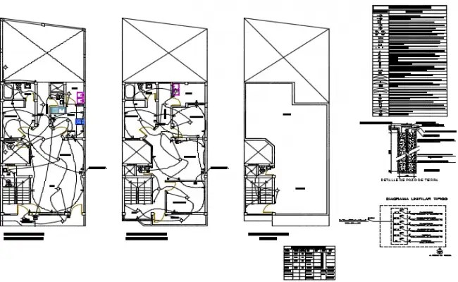 AutoCAD House Plumbing And Electrical Layout Plan Drawing