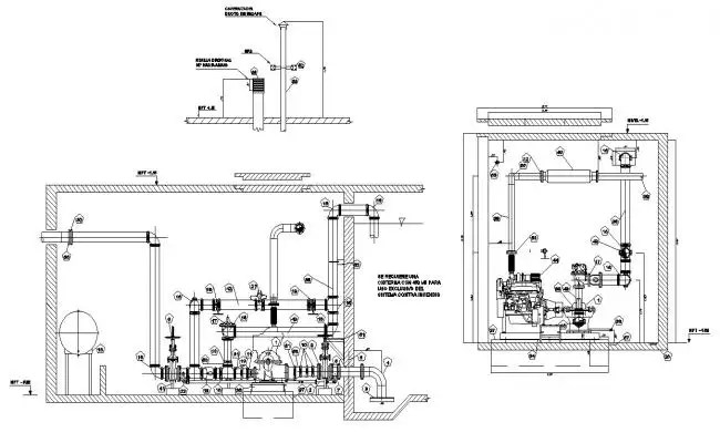 2d Drawings of the apartment with electrical installation