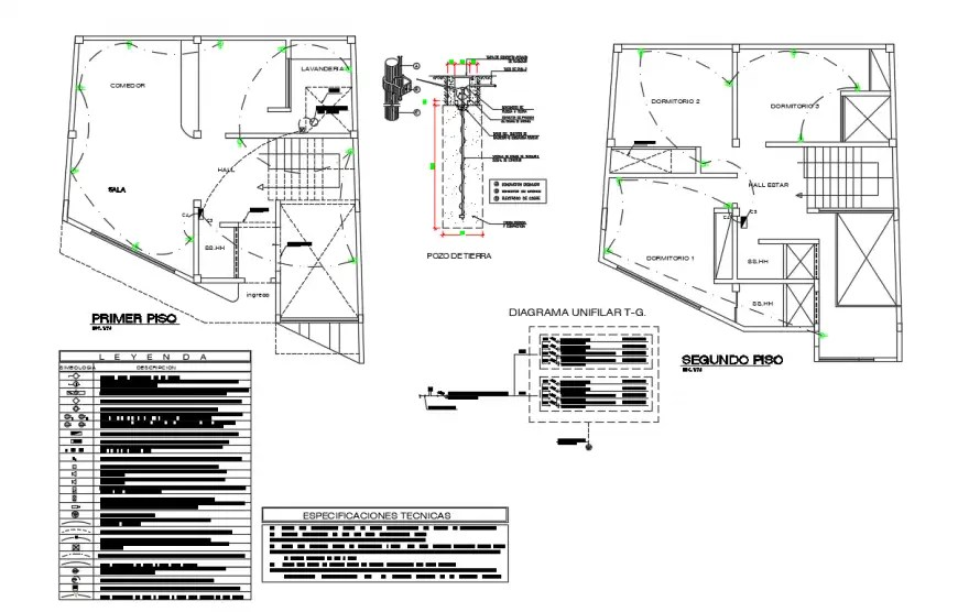 CAD electric circuits diagram 2d view drawing in autocad
